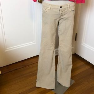 Ralph Lauren Pants - Ralph Lauren tan corduroy pants flare bottoms